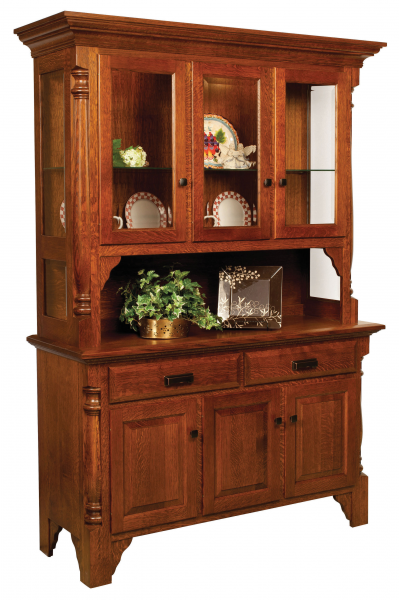 Amish Made Hutch Solid Wood Buffets Amish Furniture